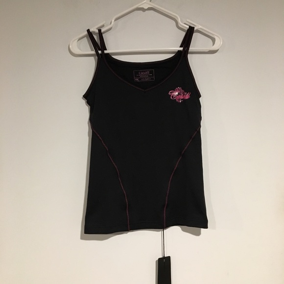 CASALL Tops - Casall NWT pink and black workout tank size XS